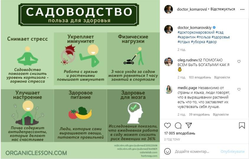 Фото instagram.com/doctor_komarovskiy/