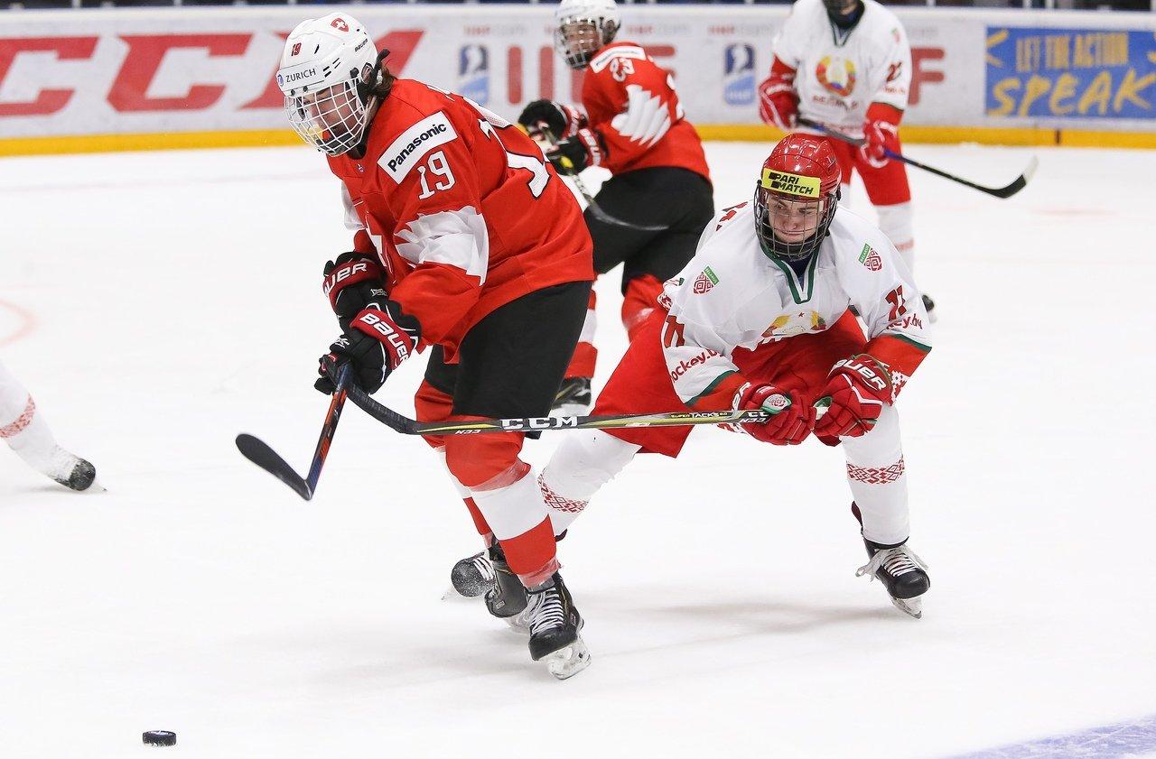 Белорусы забросили швейцарцам 7 шайб / фото twitter.com/hockey_blr