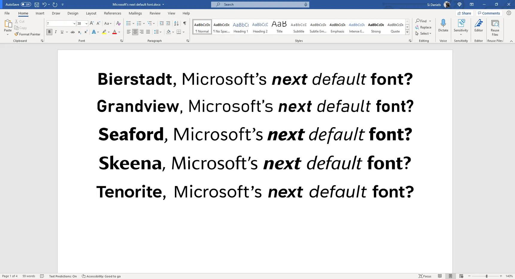 Calibri был шрифтом по умолчанию вMicrosoft с 2007 года / фото Microsoft