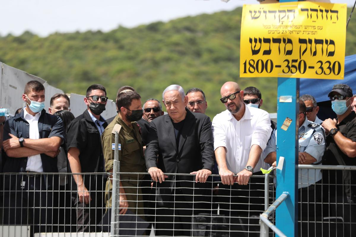 Биньямин Нетаньяху посетил место трагедии / REUTERS