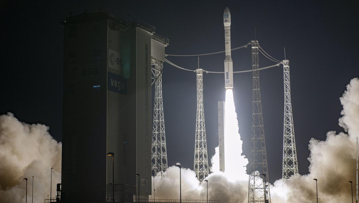 Ракета-носій легкого класу Vega - спільний проект Європейського космічного агентства та італійського космічного агентства / фото esa.int