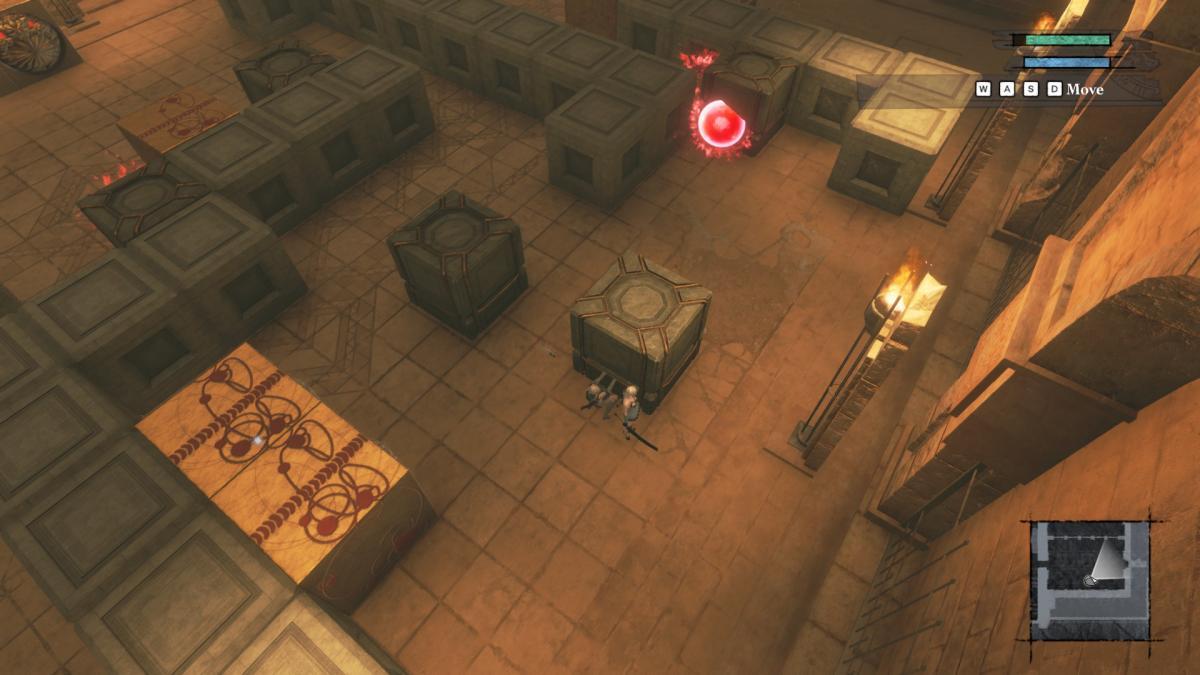 Одна из головоломок, где нужно правильно двигать каменные кубы / скриншот