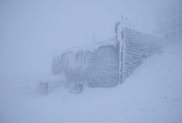 Карпаты засыпает снегом, видимости почти нет (фото)