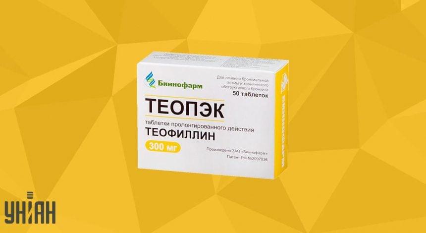 Теофиллин фото упаковки