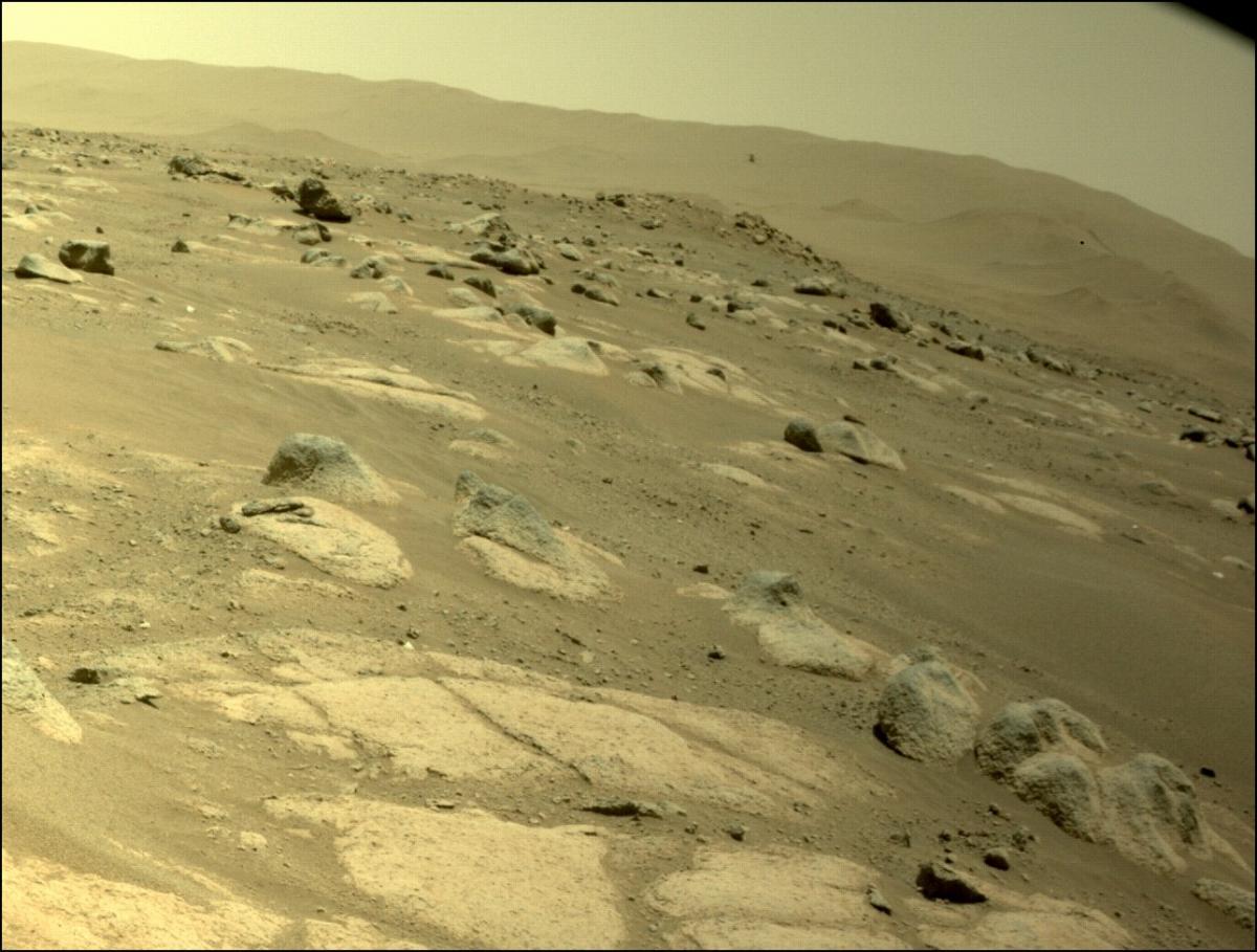 Вертолет Ingenuity полетал на Марсе / фото twitter.com/NASAJPL