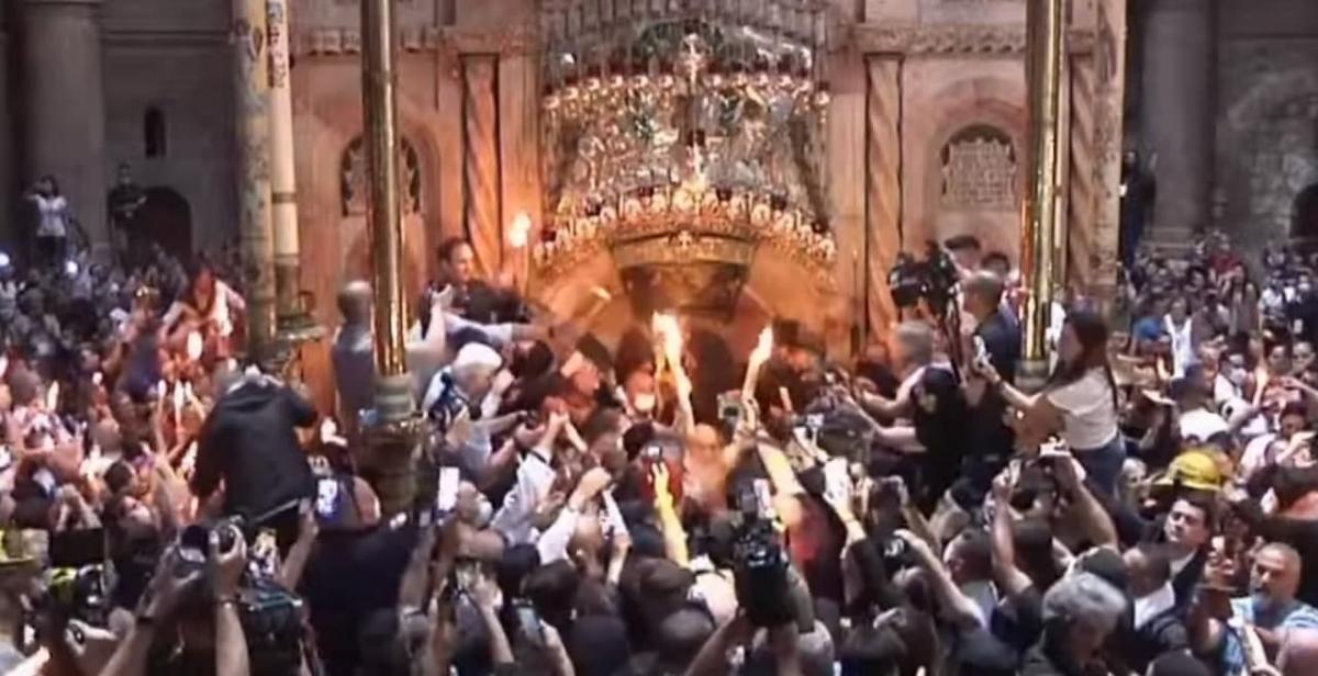 В Єрусалимі зійшов Благодатний вогонь / скріншот