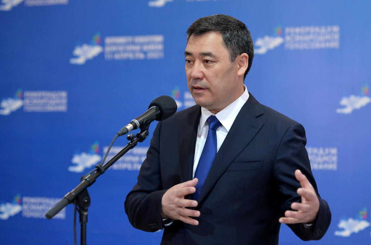 Президент Кыргызстана Садыр Жапаров / фото REUTERS