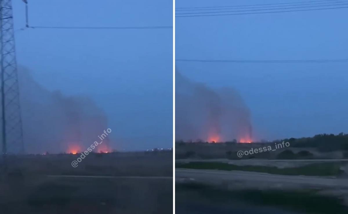 """Пожарные уже работают на месте происшествия / скриншот, """"Одесса INFO"""""""