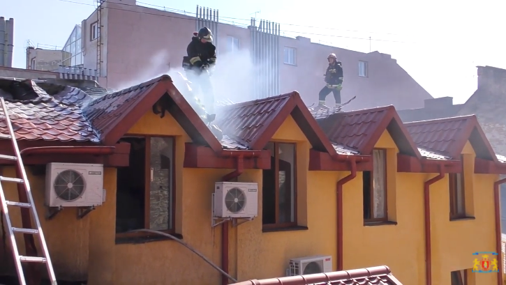 Пострадавших в результате пожара нет / скриншот