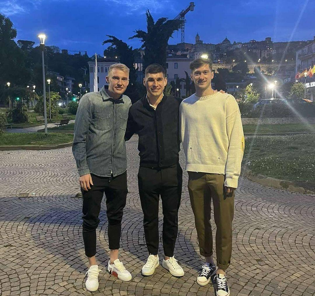 Виктор Коваленко, Руслан Малиновский и Алексей Миранчук / фото instagram.com/malinovskyi_18