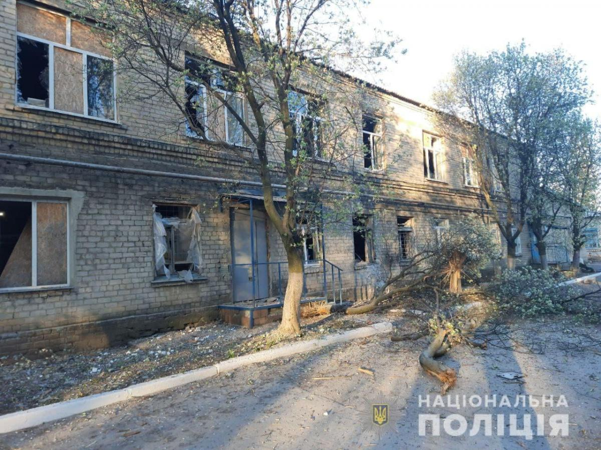 The hospitalwas damaged on May 4 amidshelling by Russia-led forces / Photo from National Police