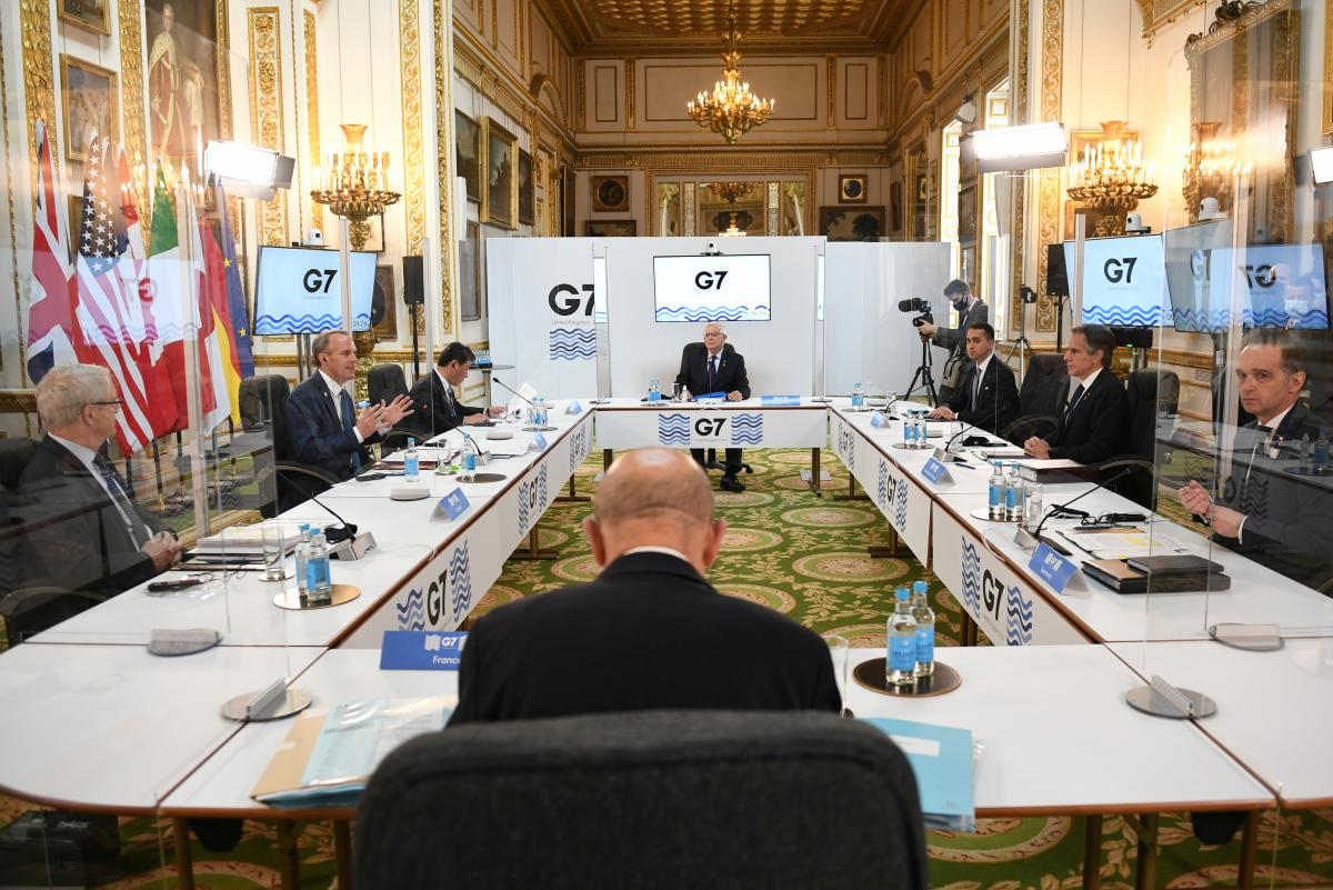 Група країнG7 уперше за два роки зібралася наживо / фото REUTERS