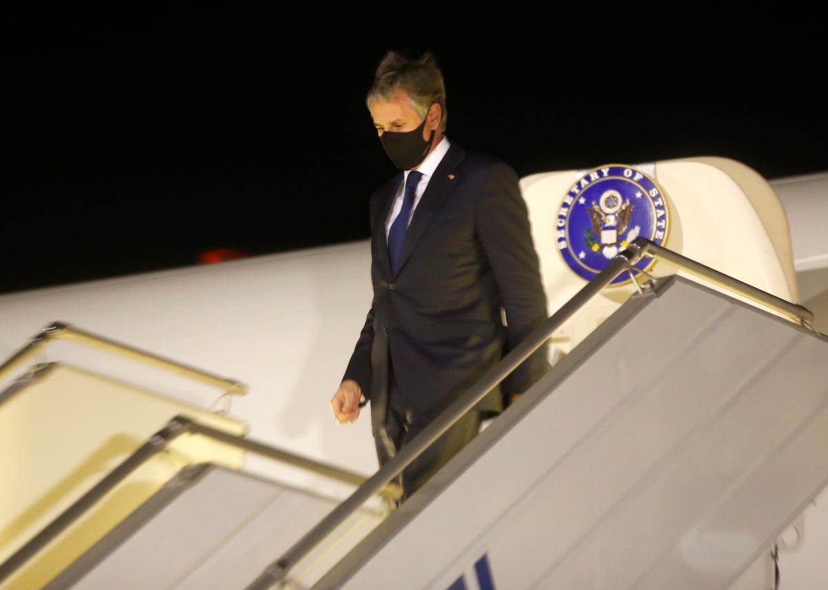 Энтони Блинкен прилетел в Киев 5мая / фото REUTERS