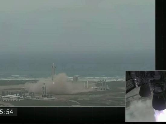 Прототип Starship від SpaceX успішно приземлився / скріншот