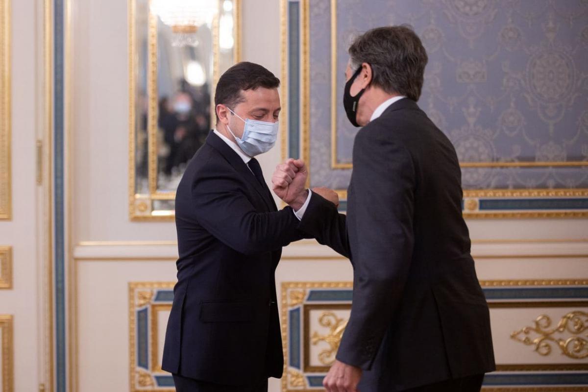 Зеленский принимает Блинкена \ фото Офис президента