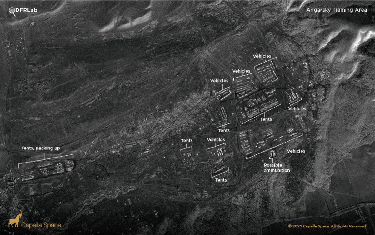 Ангарский полигон по состоянию на 21 апреля, DFRLab