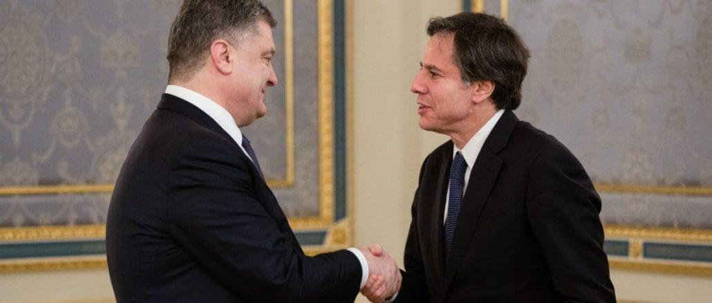 Петр Порошенко встретился с Энтони Блинкеном в марте 2015 года / УНИАН