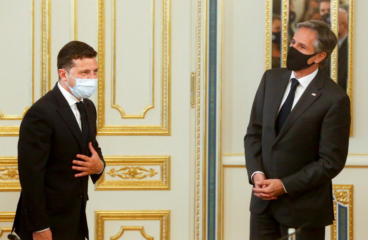 Владимир Зеленский и Энтони Блинкен / фото REUTERS
