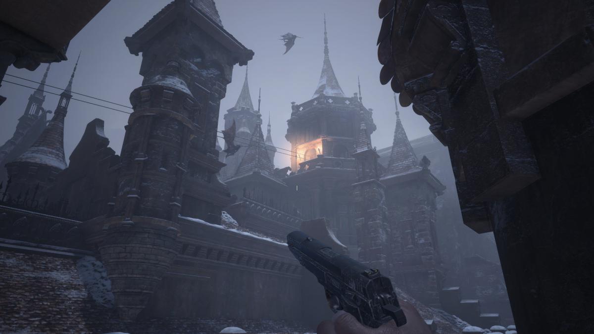 На крыше замка Димитреску летают очень неприятные ребята / скриншот