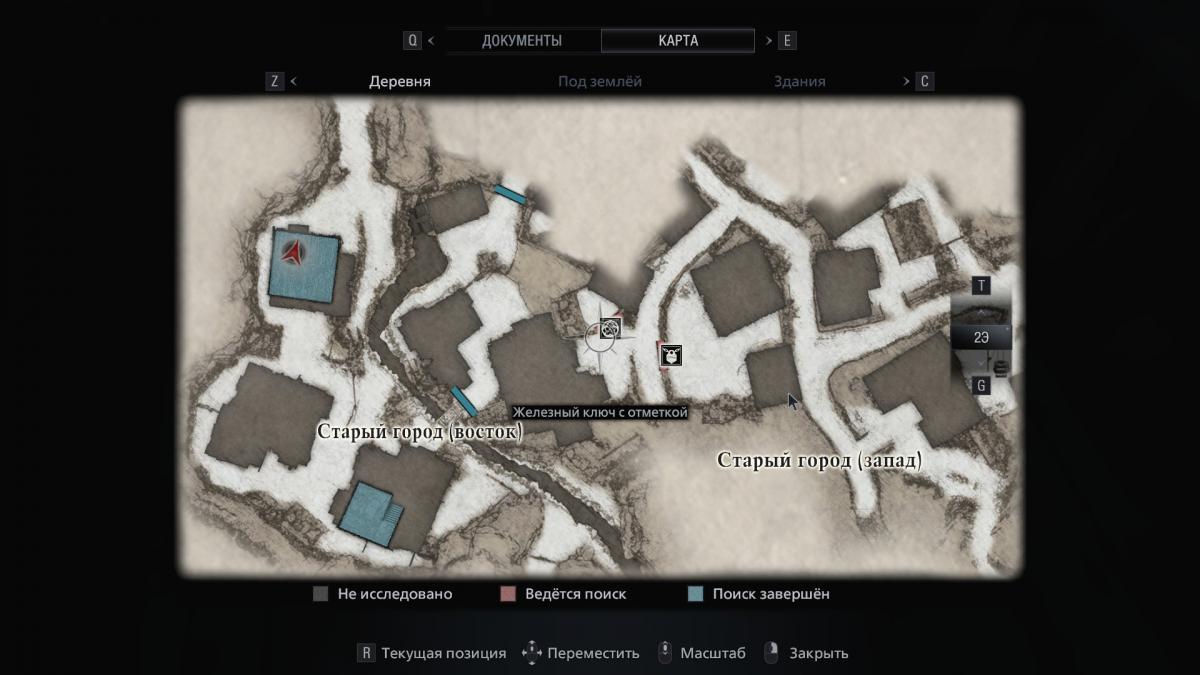 На карте традиционно отмечаются места, где найдены не все предметы / скриншот