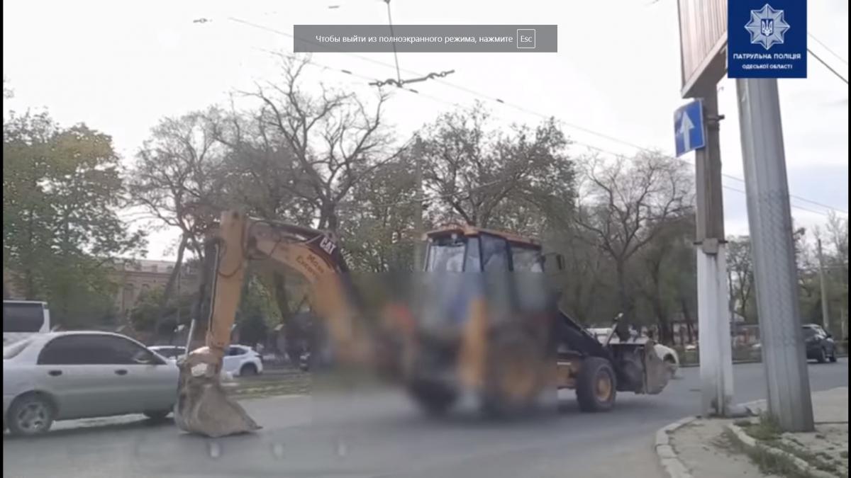 Інцидент стався в Одесі на Фонтанській дорозі/ скріншот з відео