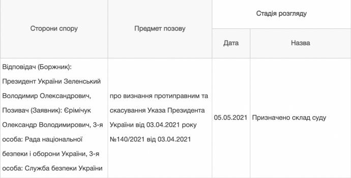 Скриншот Судебная власть Украины