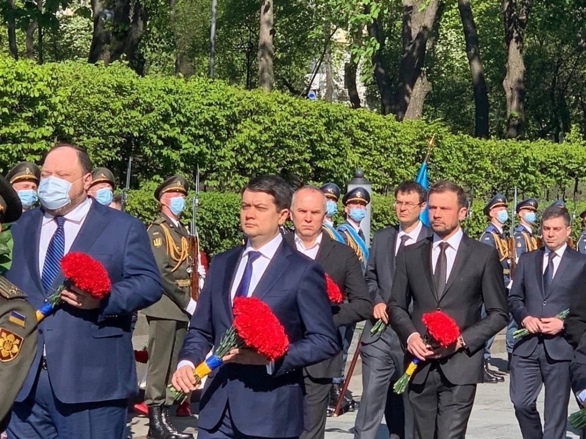 Разумков и Стефанчук на мероприятиях 9 мая/ Страна