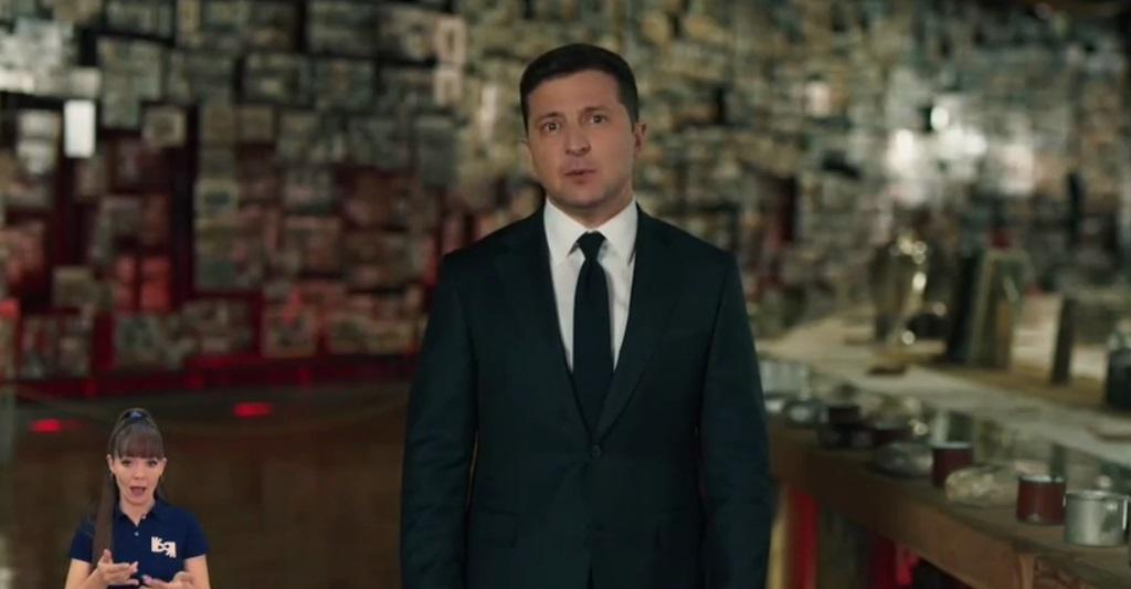 Zelensky delivers a speech on WWII Victory Day / Screenshot