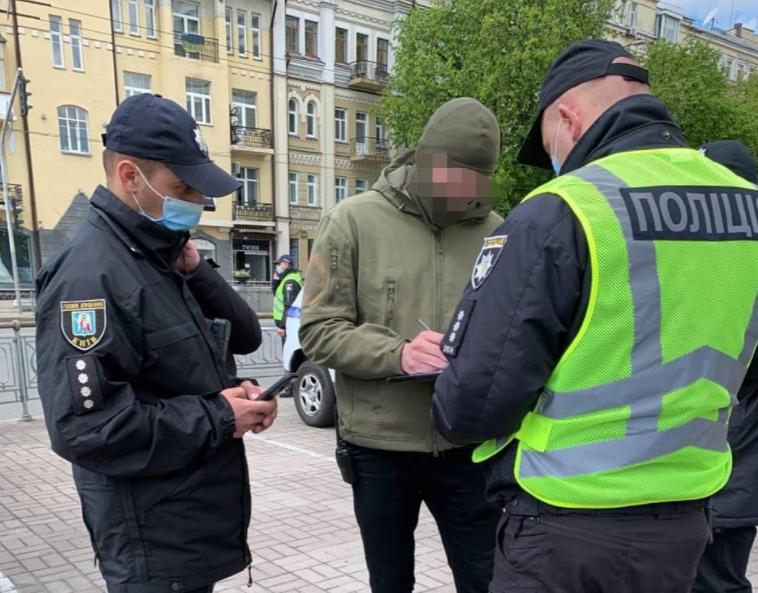 В Киеве составили протокол на подростка-провокатора / Нацполіція