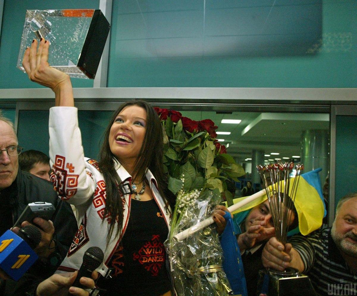 Руслана перемогла на Євробаченні-2004 / фото УНІАН, Віктор Побединський