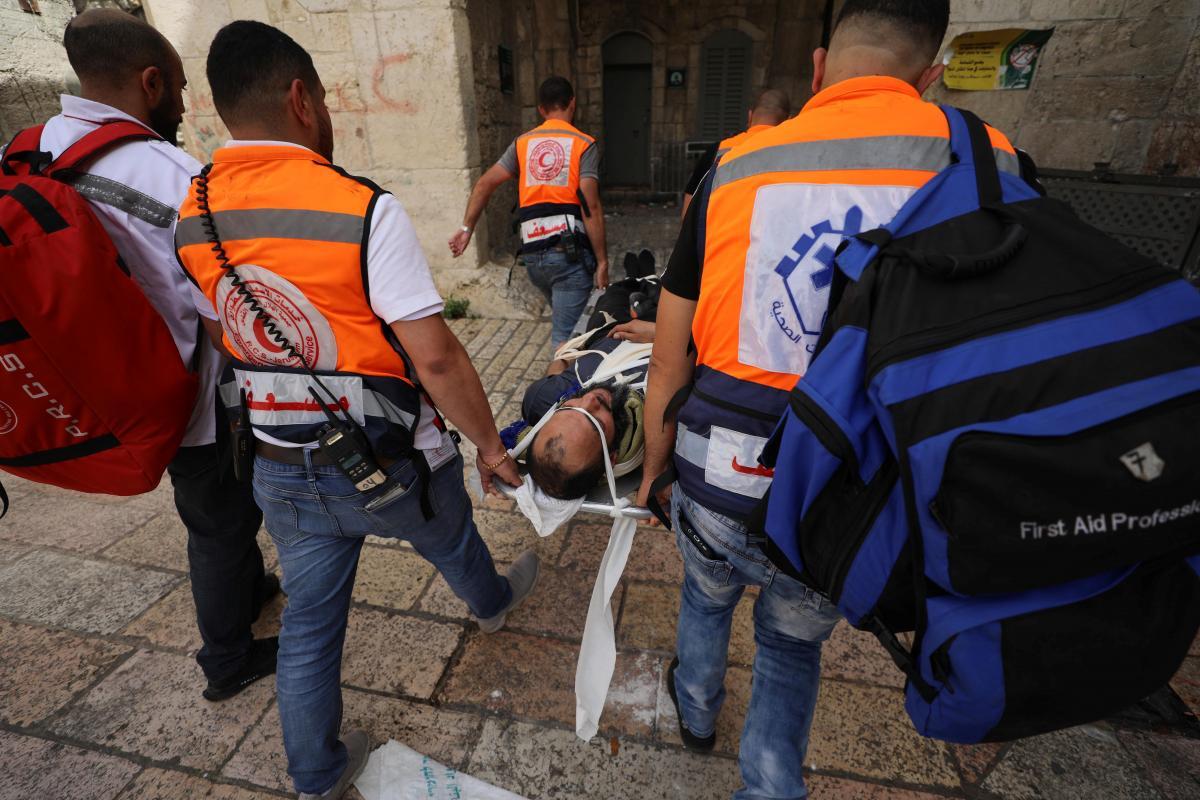У сутичках цього 10 березня травми отримали понад 300палестинців/ фото REUTERS