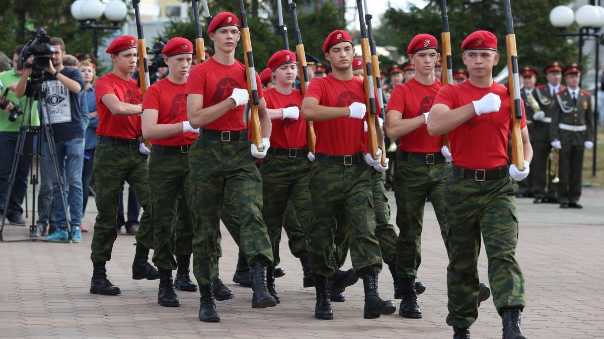 """Один из """"парадов"""" Юнармии в Татарстане, всего в республике действуют шесть таких организаций / Фото - yunarmy.tatar"""