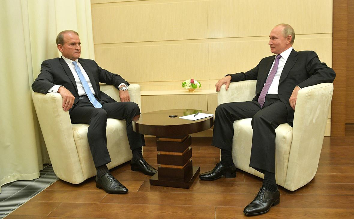 Медведчук на встрече с Путиным / фото: Kremlin.ru