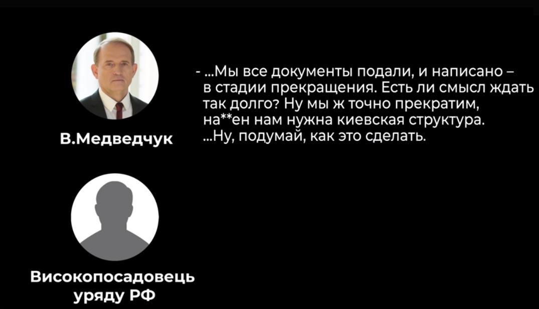 О чем Медведук говорил с российским чиновником / скриншот с видео