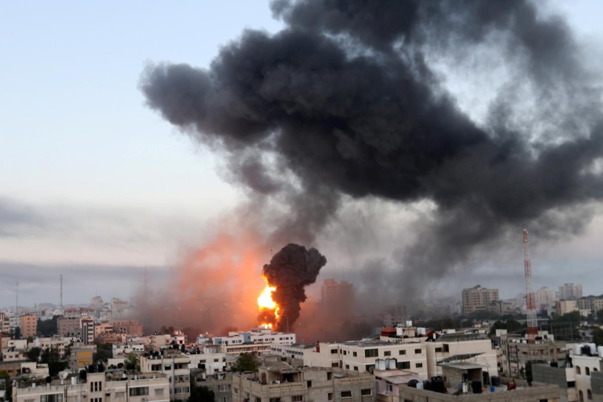 Обстрел из российского ПТРК нанесли во время ракетной атаки армии Израиля по позициям ХАМАС / фото REUTERS