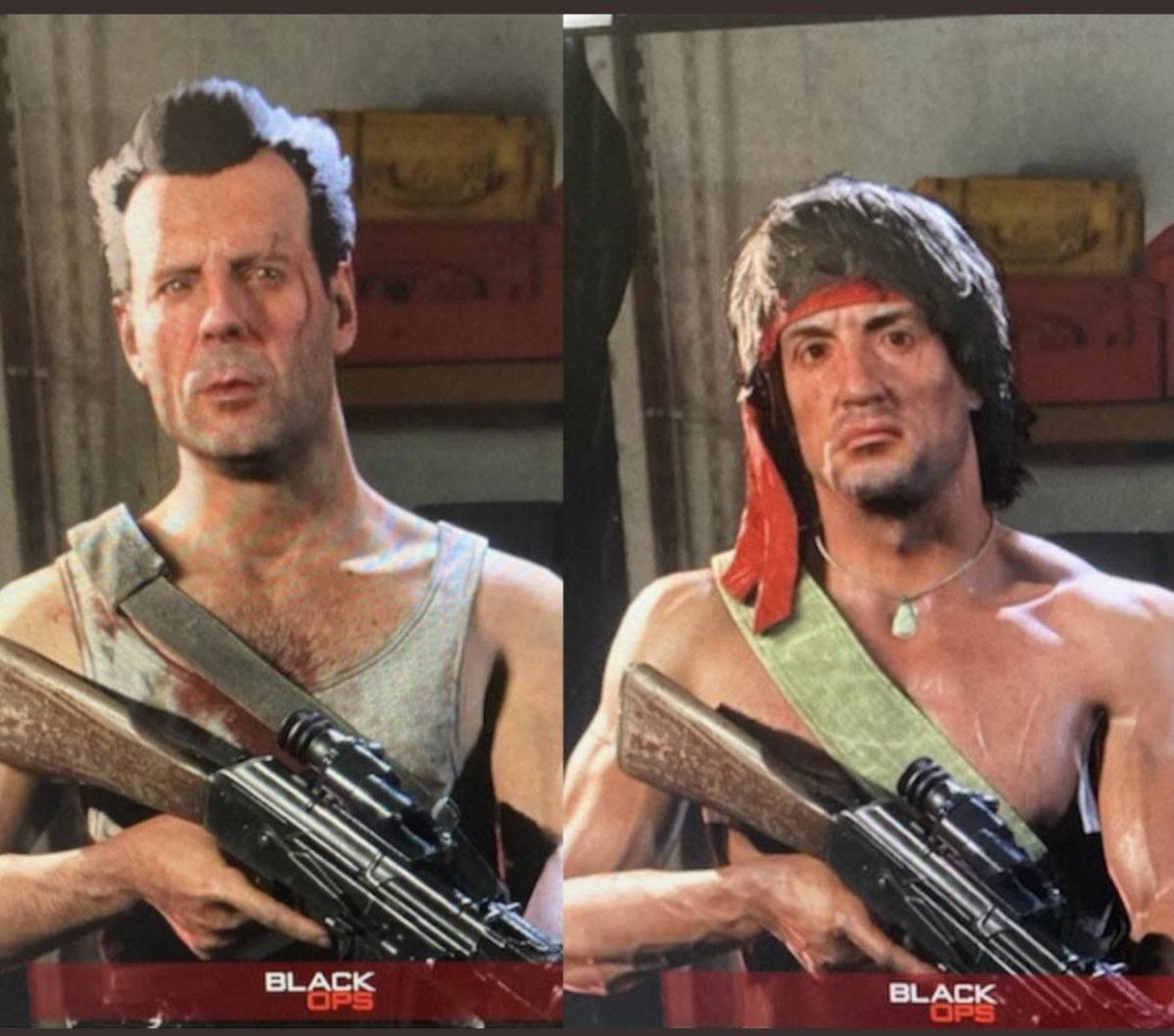 Джон МакКлейн и Рэмбо в Warzone /фото twitter.com/LeaksOps