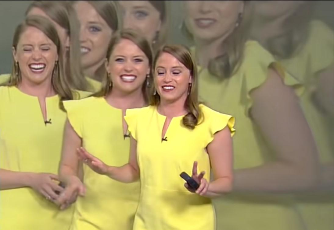 МакДермед продовжувала сміятися до кінця прогнозу погоди / скріншот з відео