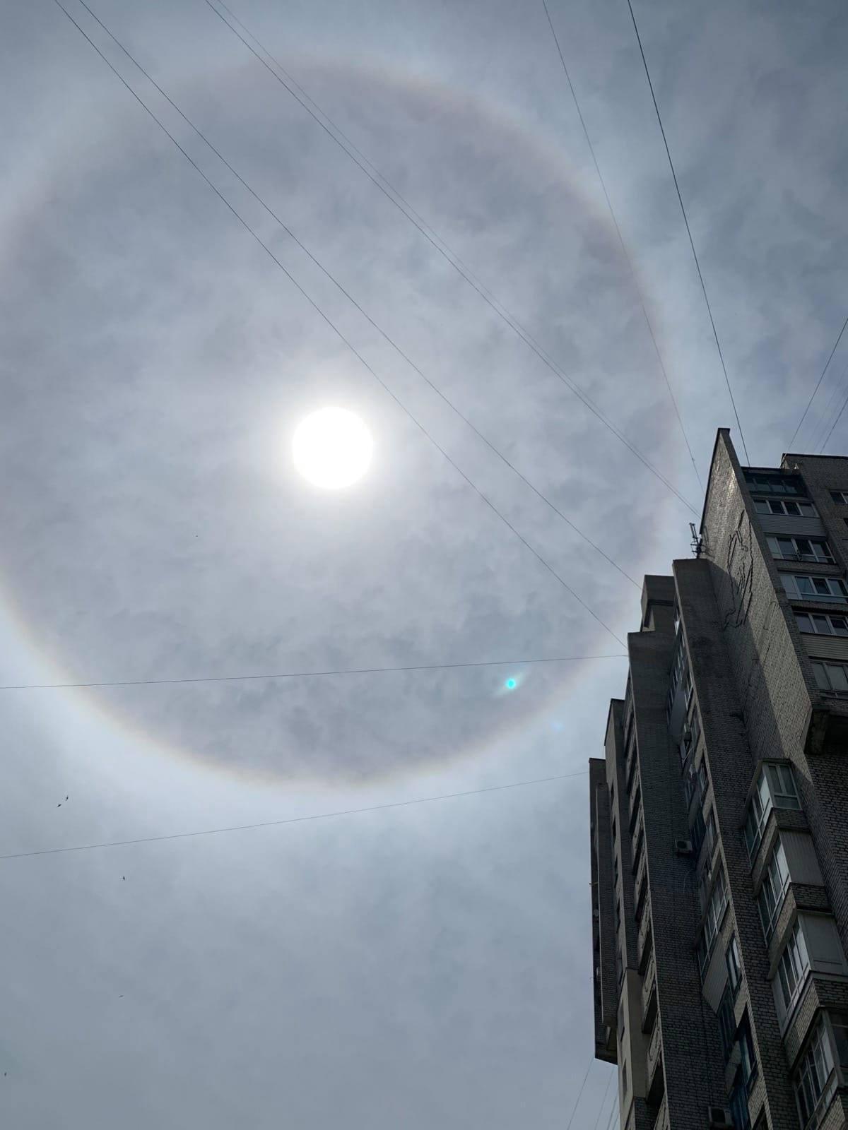 У Запоріжжі зняли рідкісне атмосферне явище / фото Олена Булгакова, Facebook