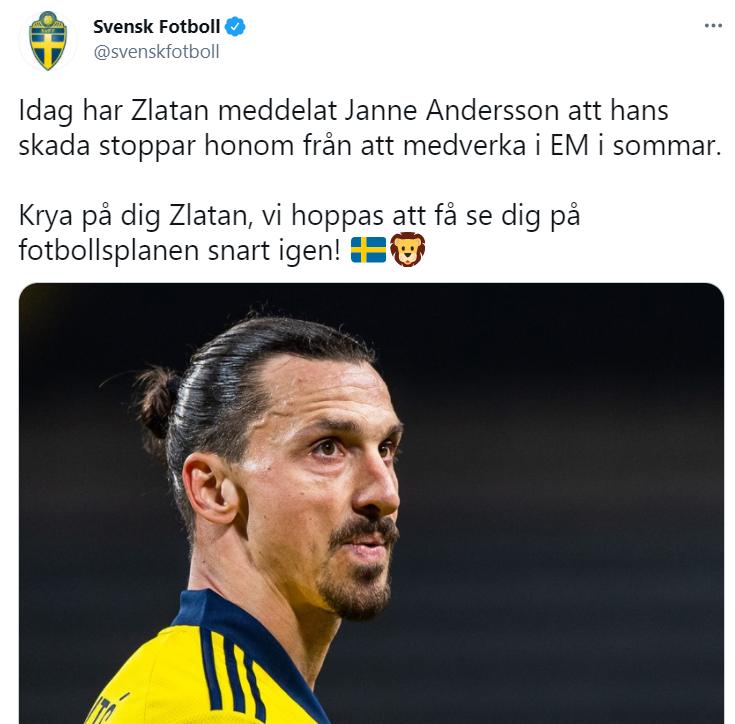 фото twitter.com/svenskfotboll