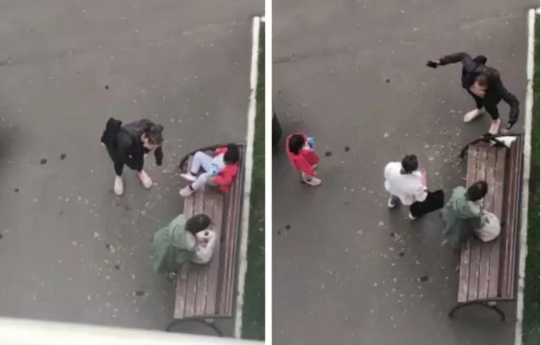 Женщина разозлилась на детей / скриншот