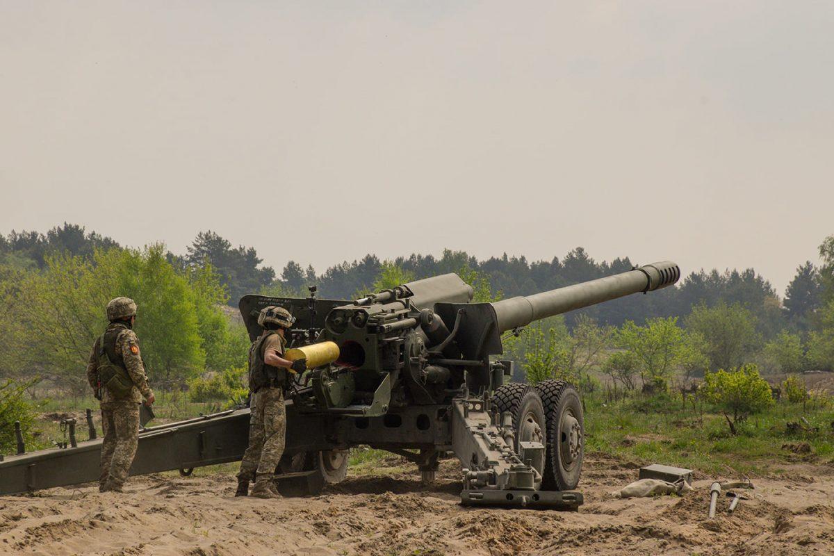 Украинские артиллеристы провели стрельбы на учениях НАТО / фото АрмияИнформ
