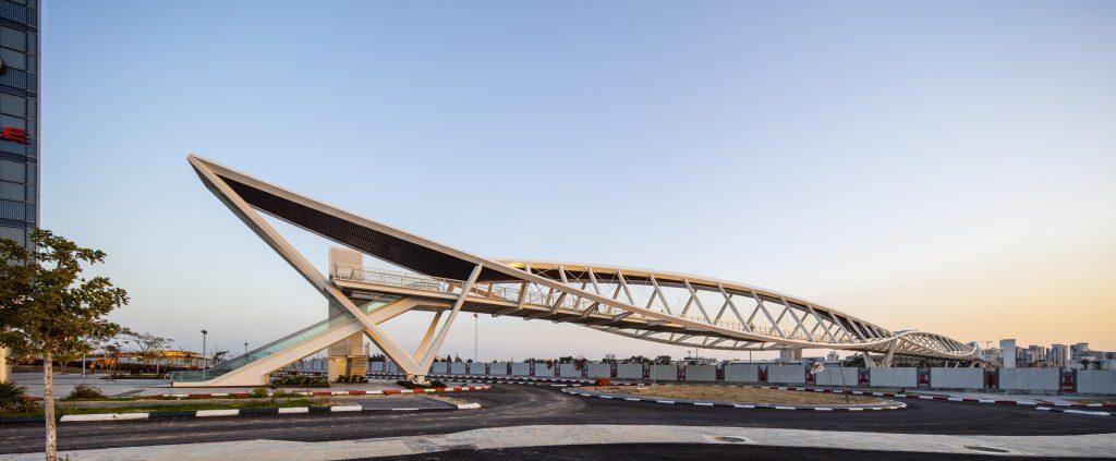 Мост из стали украинского гиганта металлургии находится в израильском городе Беэр-Шева / фото Метинвест