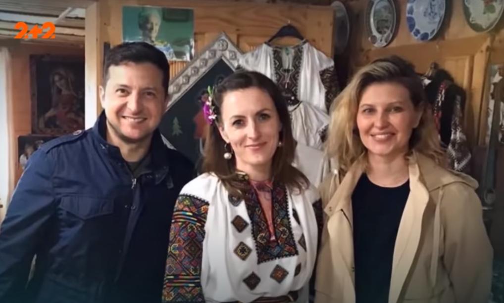 Володимир та Олена Зеленські отдыхали на западе Украины / скриншот