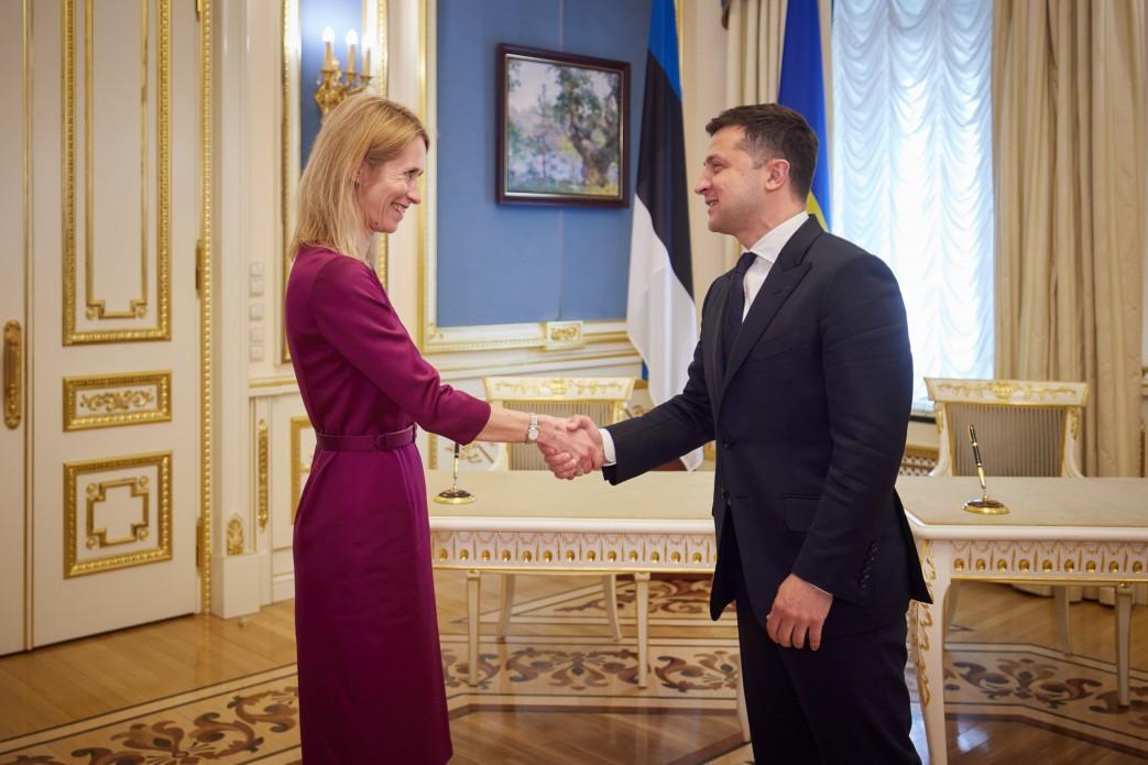 Эстония выразила готовность поддержать вступление Украины в ЕС / фото Офиса президента Украины