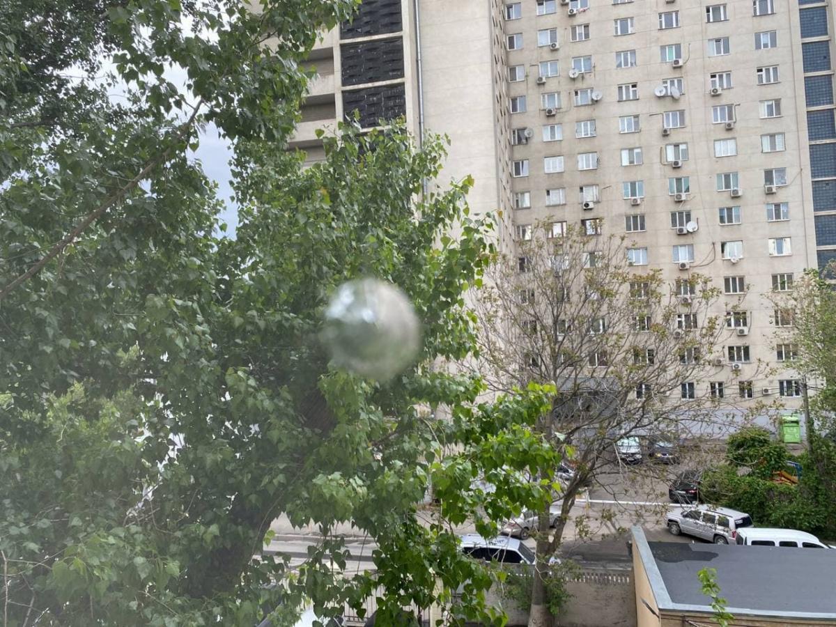 Отверстие от пули в оконном стекле обнаружено после выходных/ фотоПриморским райсудом.