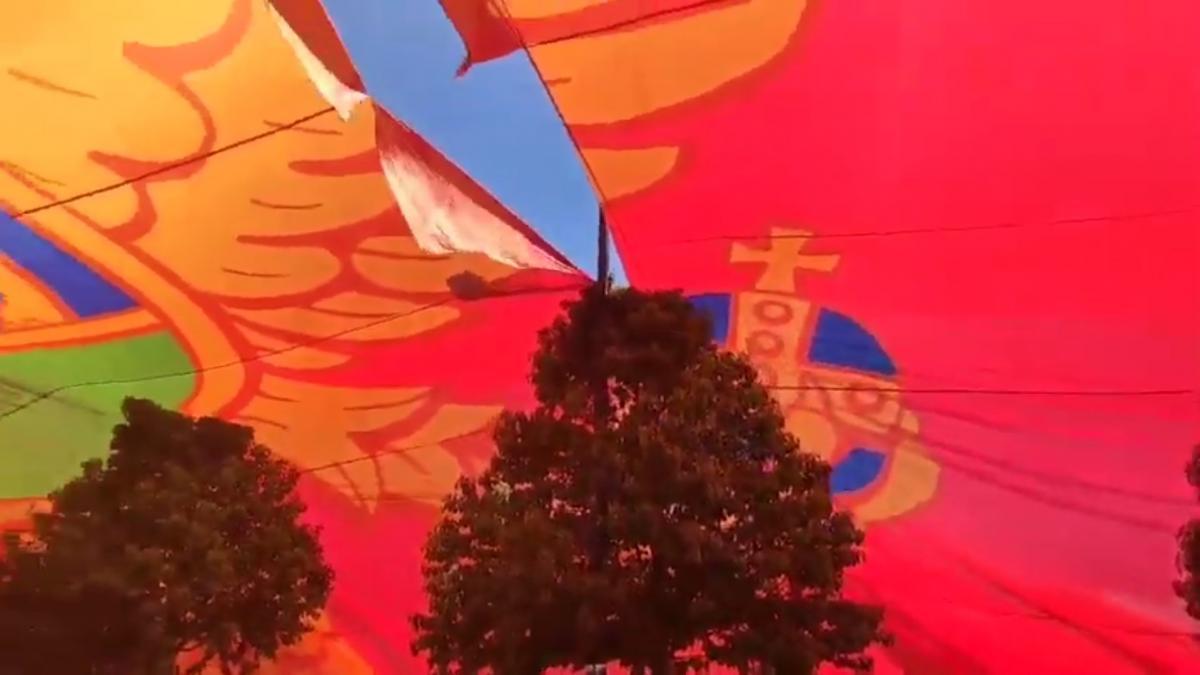 Флаг являлся самым большим в мире/ скриншот из видео