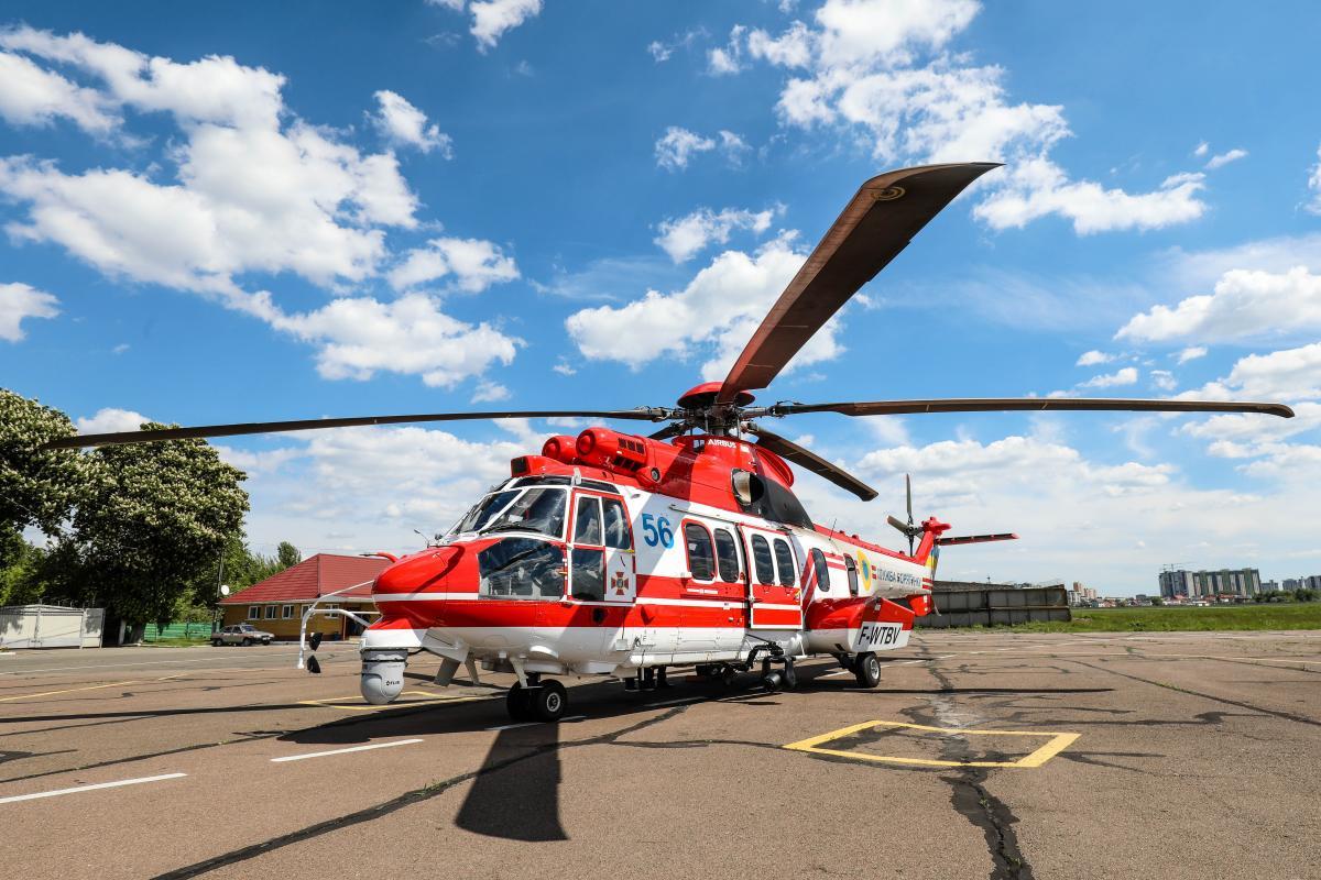 Рятувальники отримали шостий гелікоптер H225 Super Puma \ фото dsns.gov.ua