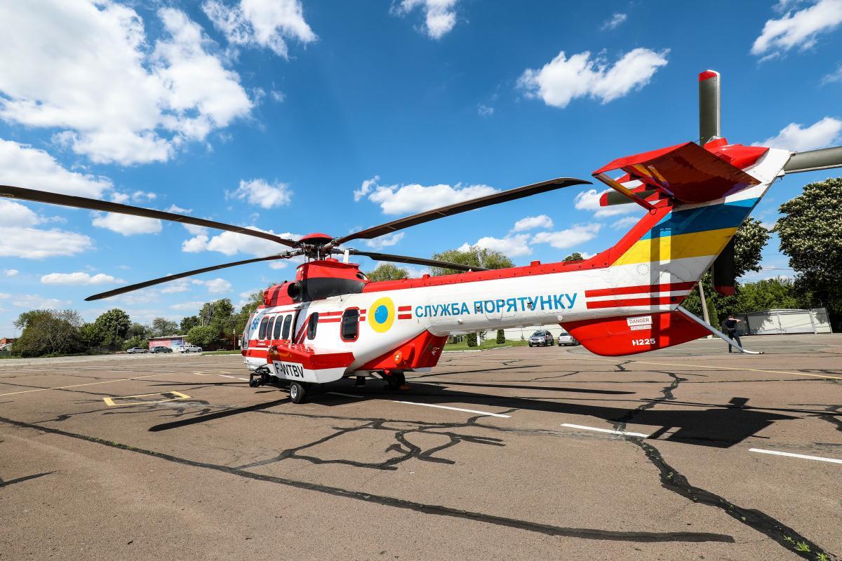 Всього Україна повинна отримати 55 таких гелікоптерів \ фото dsns.gov.ua
