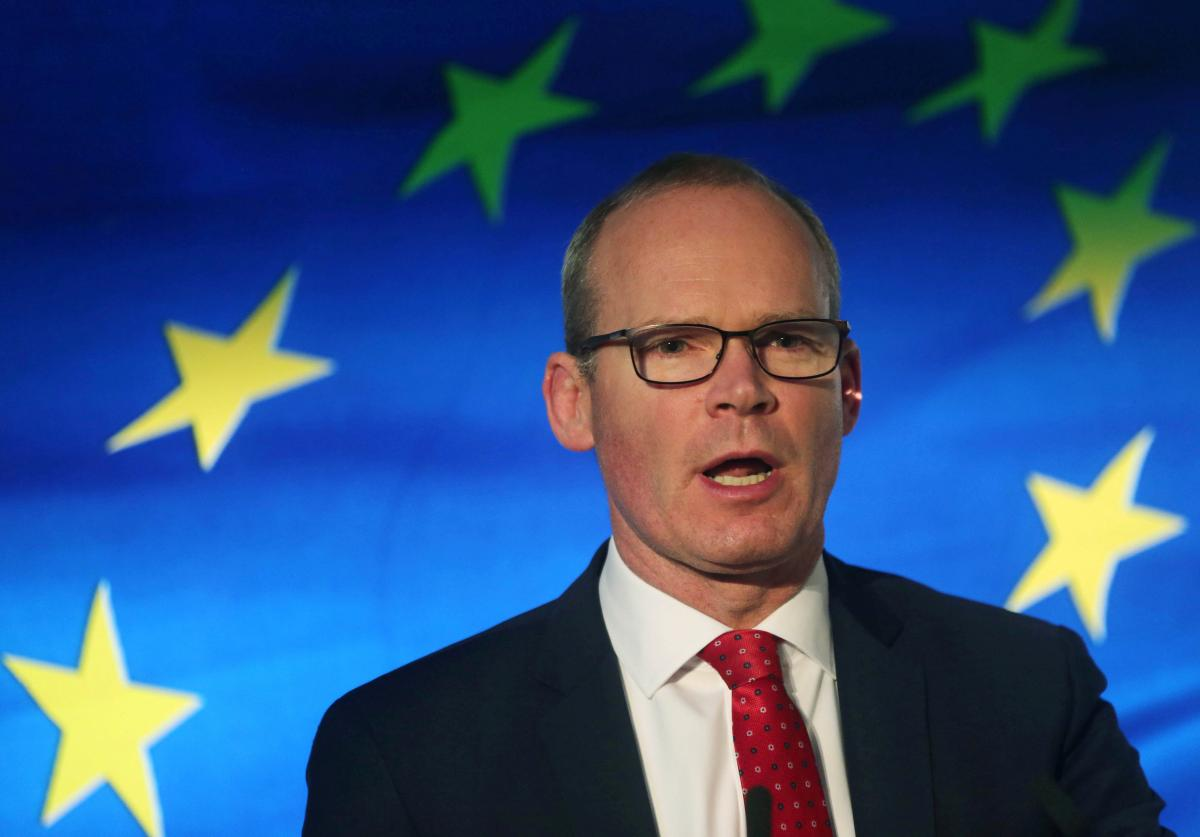 """Coveney said the incident yesterday was a """"state-sponsored hijacking"""" / REUTERS"""