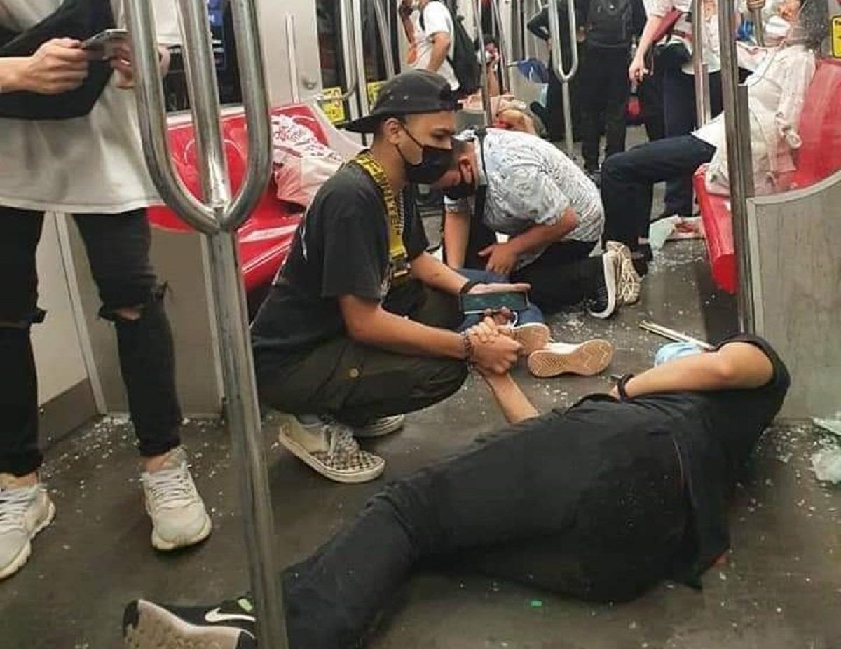 За інформацією правоохоронців, поїзди, що зіткнулися в Малайзії, рухалися одним шляхом назустріч один одному / фото twitter.com/NewsBFM